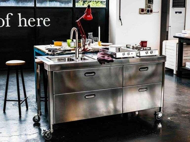 Cucine In Acciaio Componibili.Cucine Componibili In Acciaio 2017 Kitchen Freestanding