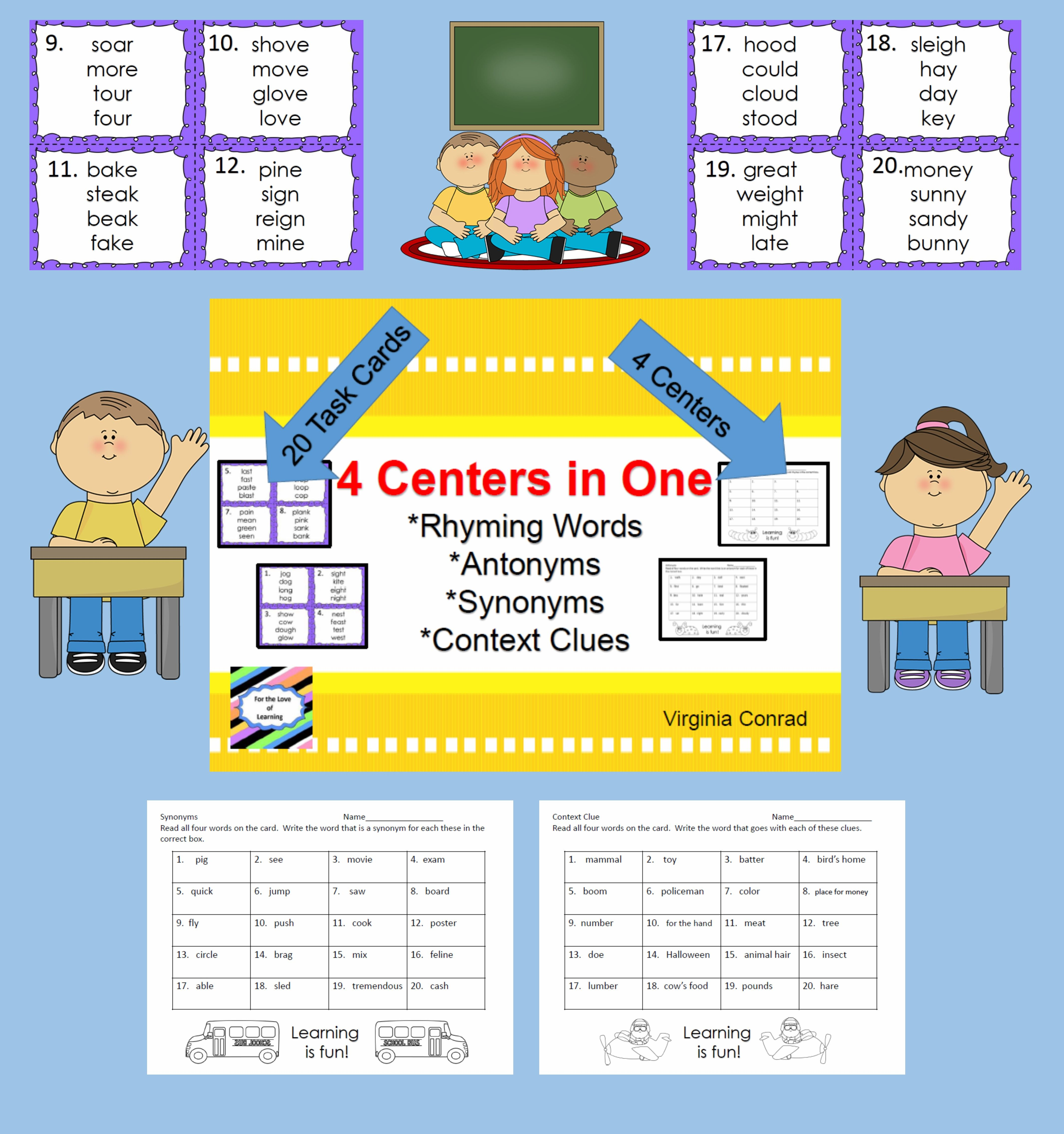 Rhyming Synonyms Antonyms And Context Clues
