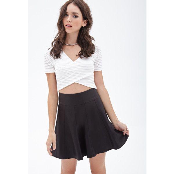 Forever 21 Women's Faux Leather Skater Skirt ($13) ❤ liked on ...