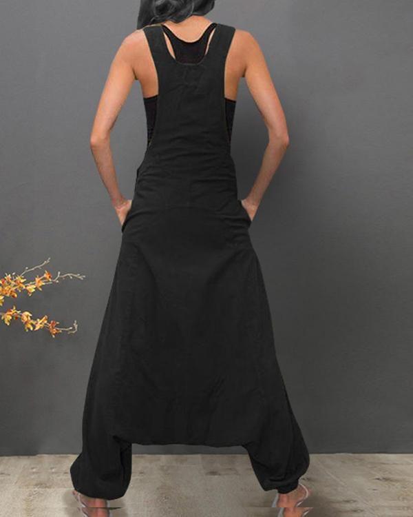 606d3f5853892 Sleeveless Bib Pants Harem Trousers Jumpsuit in 2019 | Mode - Kunst ...