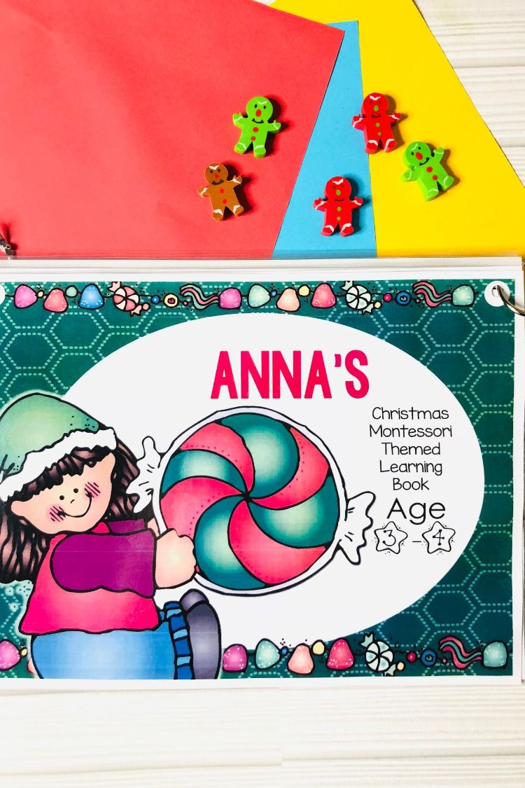 Christmas Printable Learning Busy Book Preschool Age 4-5 ...