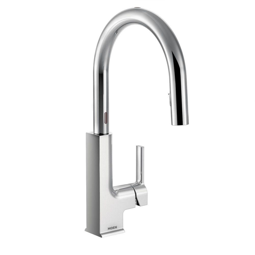 MOEN STo Single-Handle Pull-Down Sprayer Touchless Kitchen Faucet ...