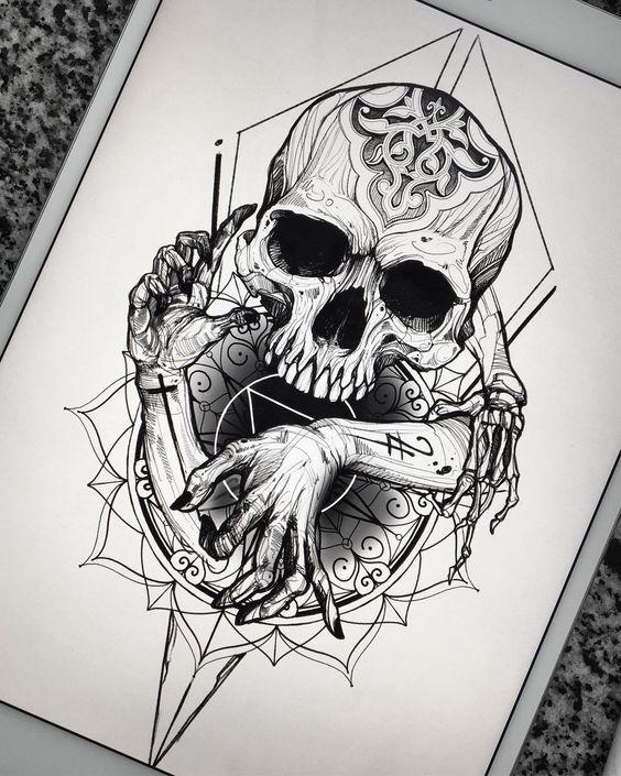 Desenhos De Caveiras Para Tatuagem Tatuagens Ideias