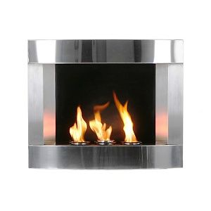 Stainless Steel Wall Mount Fireplace At Hsn Com Wall Mount Fireplace Contemporary Fireplace Fireplace