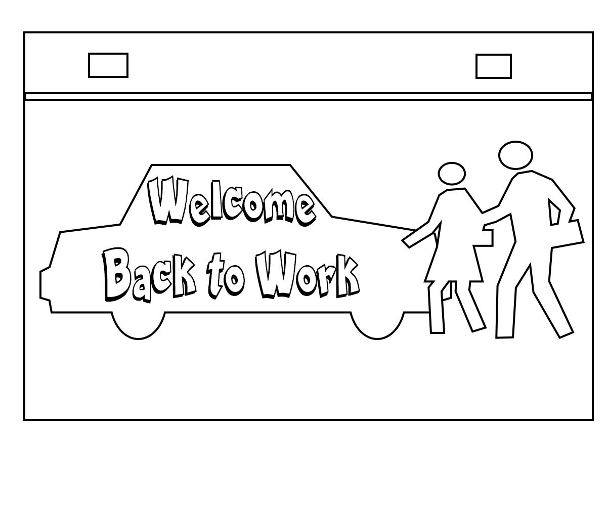 Welcome Back Coloring Pages in 2020 | Welcome back to work ...