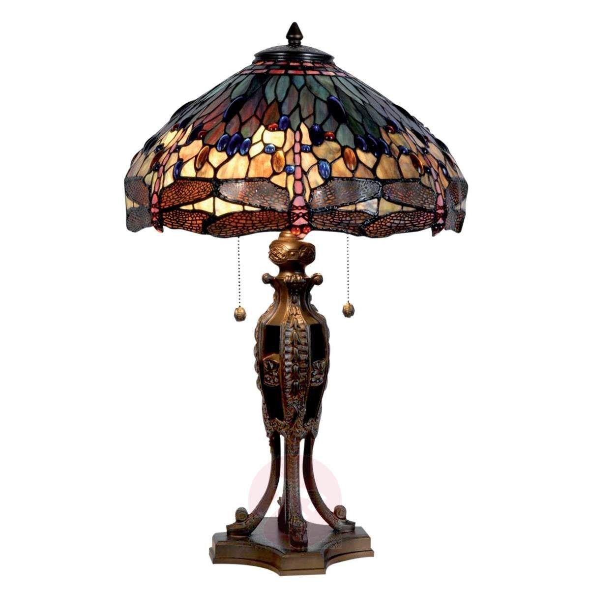 Jungle stor bordlampe i Tiffany-stil-6064026-30