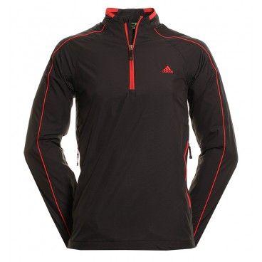 c163fd2930447 Adidas Golf Climaproof 1/2 Zip Wind Jacket W47269 - Black/university ...
