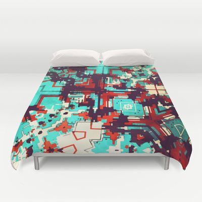 Mostly teal Duvet Cover