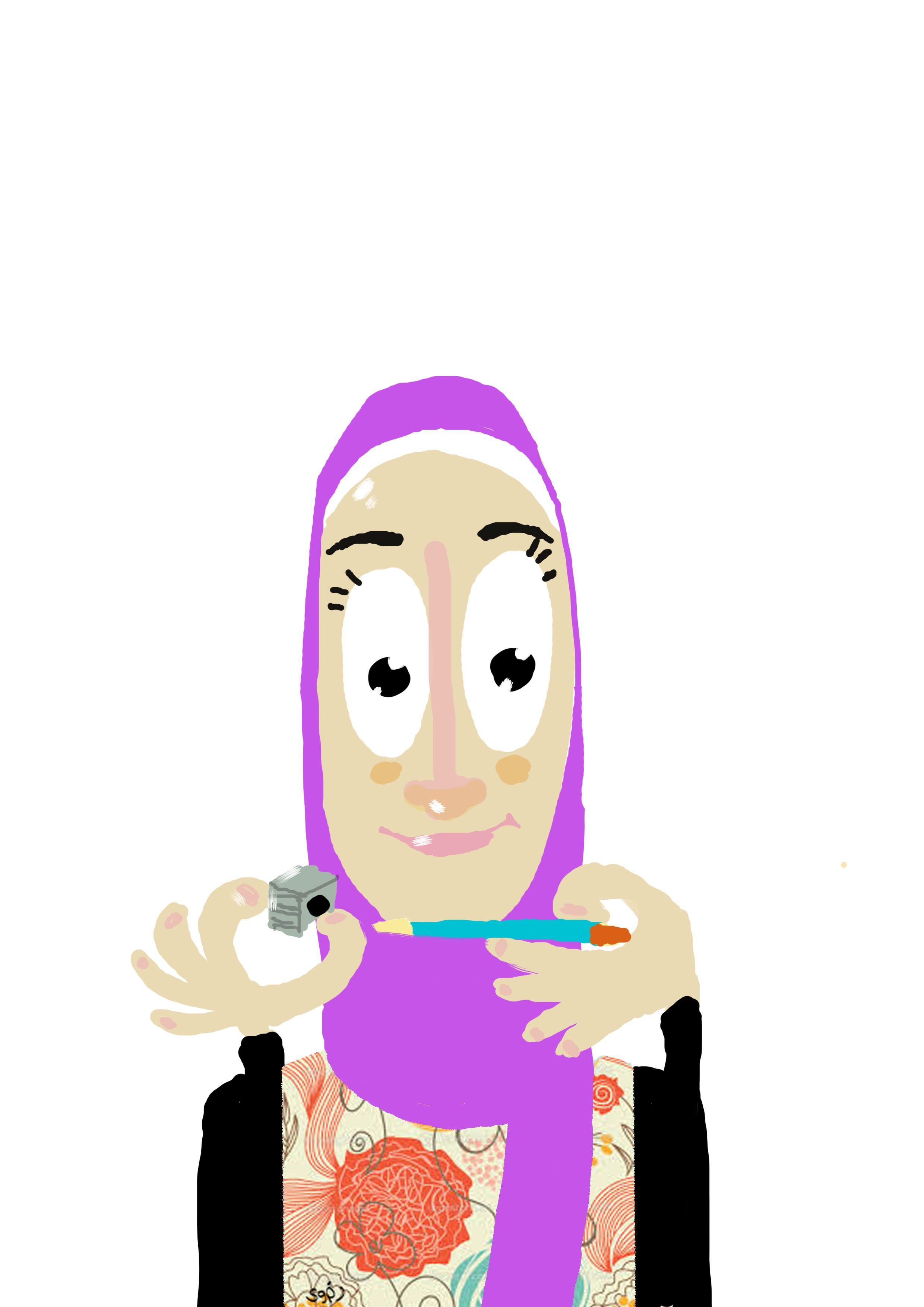 Self Portrait For my illustration workshop 4