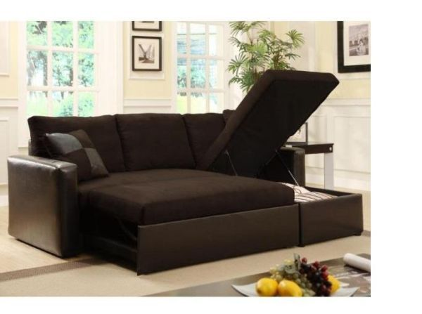 Modern Sofa Bed With Storage Chase Small Space Sleeper Sofa