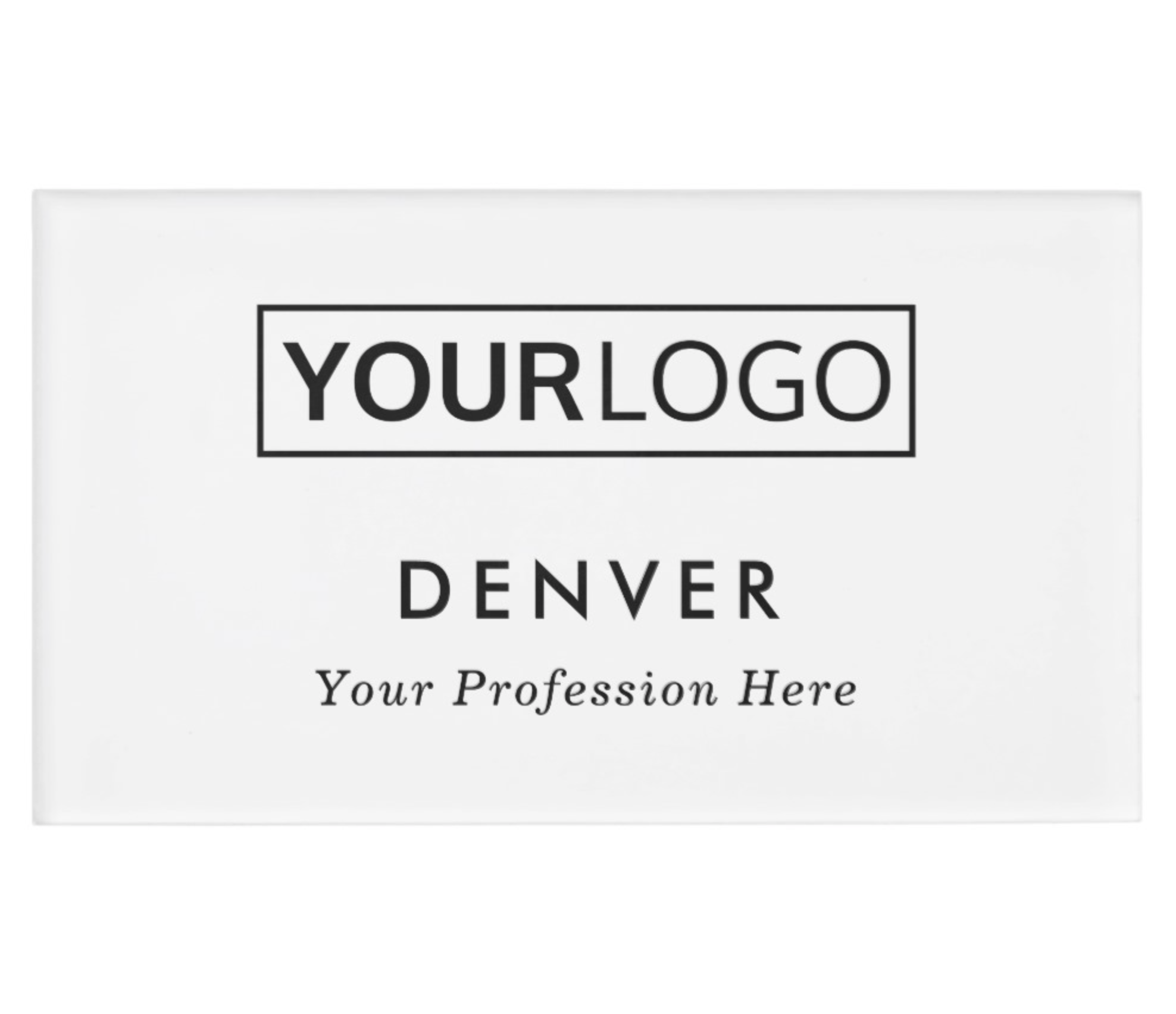 Add Your Own Logo Name And Title Name Tag Zazzle Com Name Tags Modern Names Custom Logos