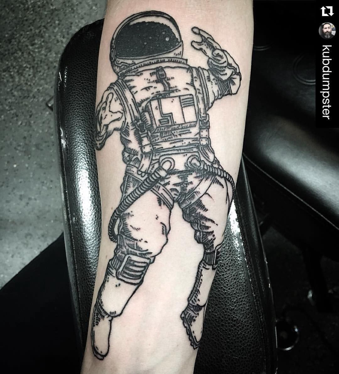 Watercolor tattoo artists in houston texas -  Repost From Our Tattoo Artist Travis Kubdumpster Astronaut From