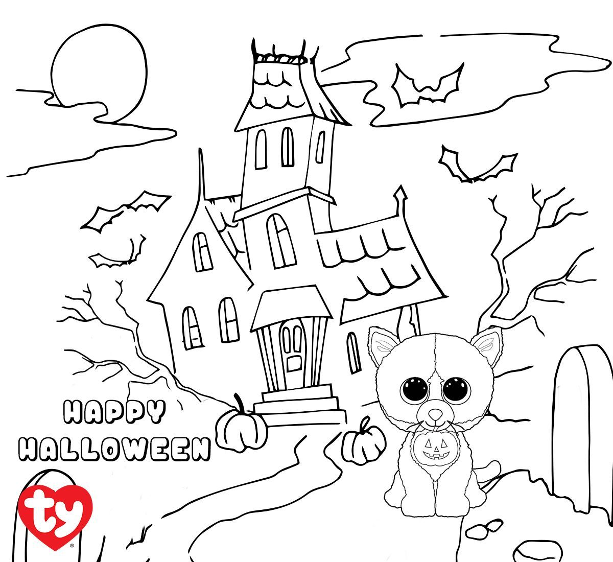 Gratis Ausmalbilder Halloween : Shadow Is Almost Ready For Halloween Can You Give This Kitty Some
