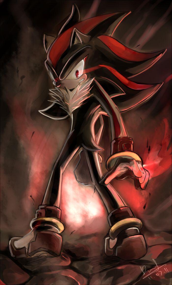 Shadow By Yamiwolf On Deviantart Shadow The Hedgehog Sonic And Shadow Sonic