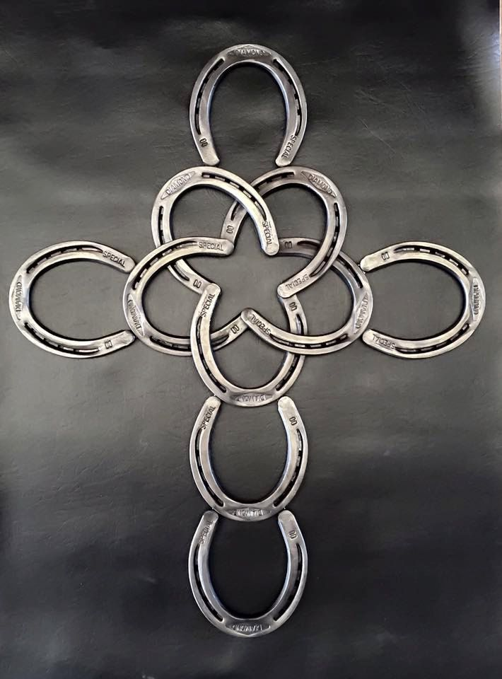 Horseshoe Star Cross Horseshoe Art Horseshoe Metal Working