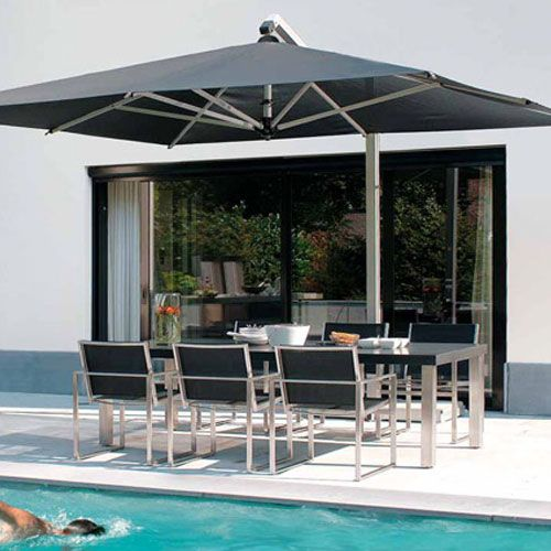 10 X 13 Cantilever Works Over A Large Dining Table And Eliminates The Annoying Center Pole Outdoor Umbrella Table Large Patio Umbrellas Patio Umbrella