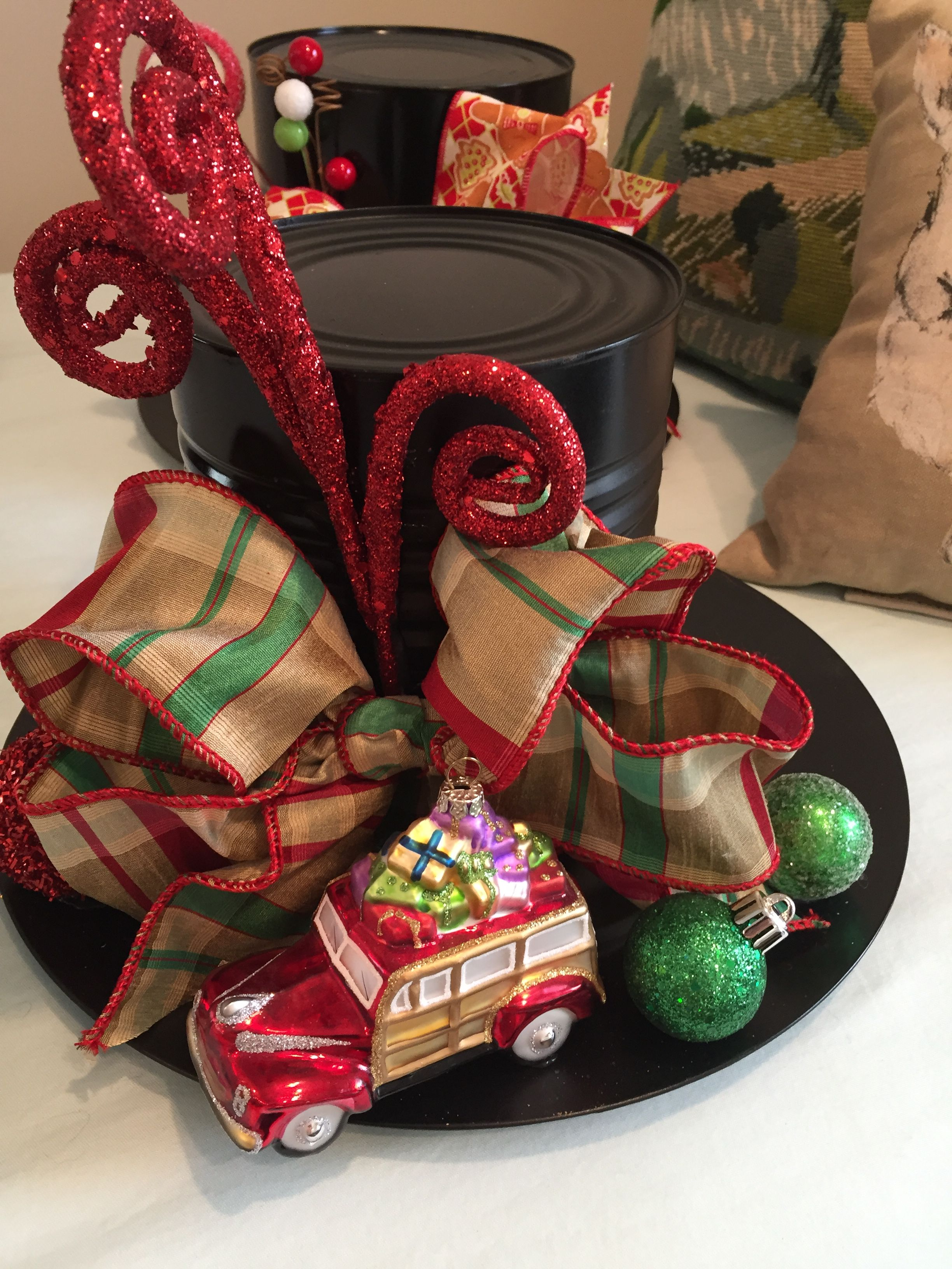 Snowman Hat Centerpiece Christmas centerpieces