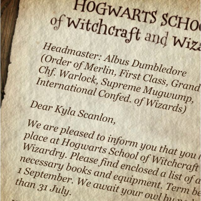 MY LETTER HAS ARRIVED!!! OFF TO HOGWARTS!!!