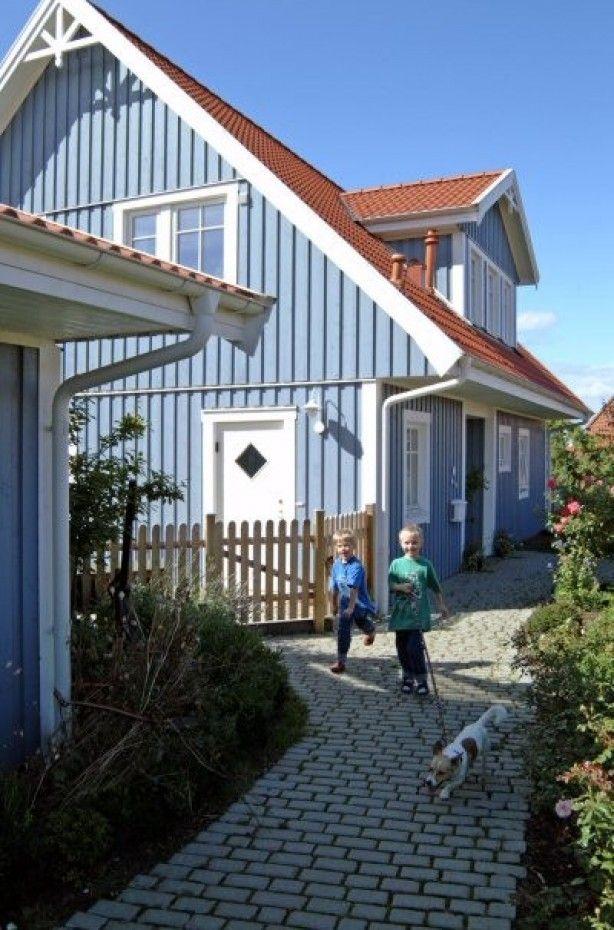 Mooi blauw zweedse stijl tevens gespecialiseerd in het for Zweedse woning bouwen