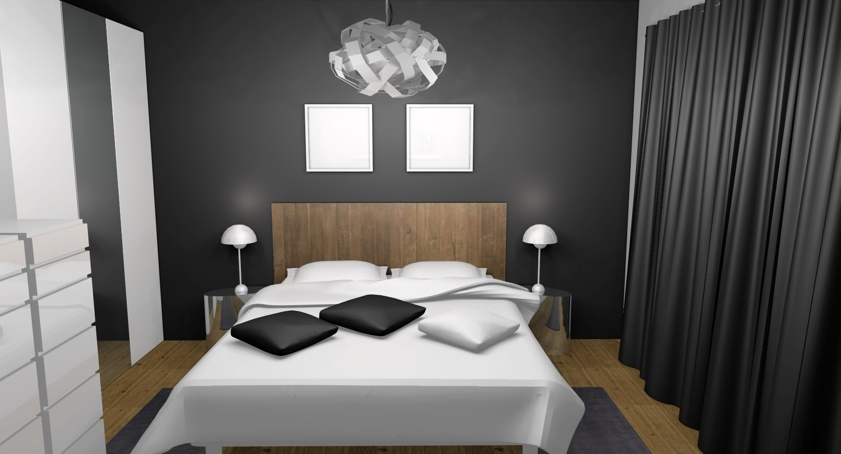 chambre contemporaine adulte grise recherche google deco pinterest chic. Black Bedroom Furniture Sets. Home Design Ideas