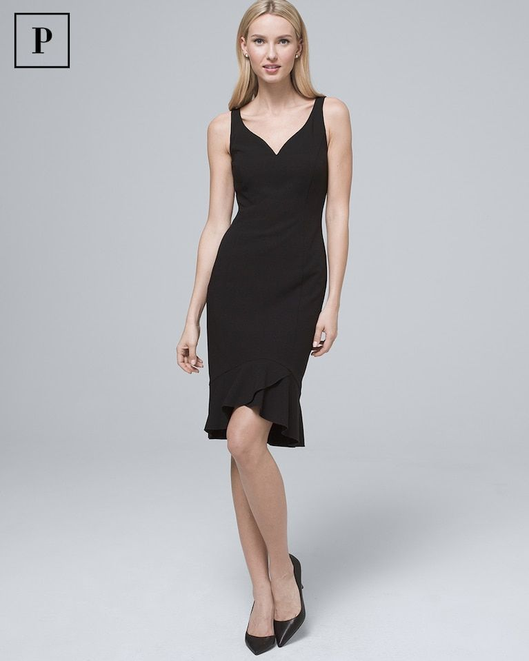 17de75902e Women s Petite Body Perfecting Flounce-Hem Sheath Dress by White House  Black Market