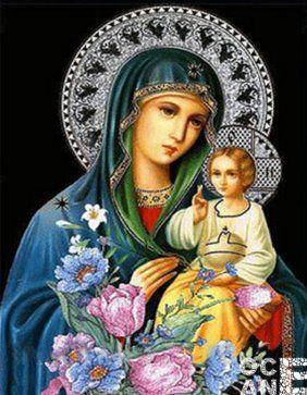 Икона Богородицы алмазная вышивка бесплатная доставка купить набор для творчества