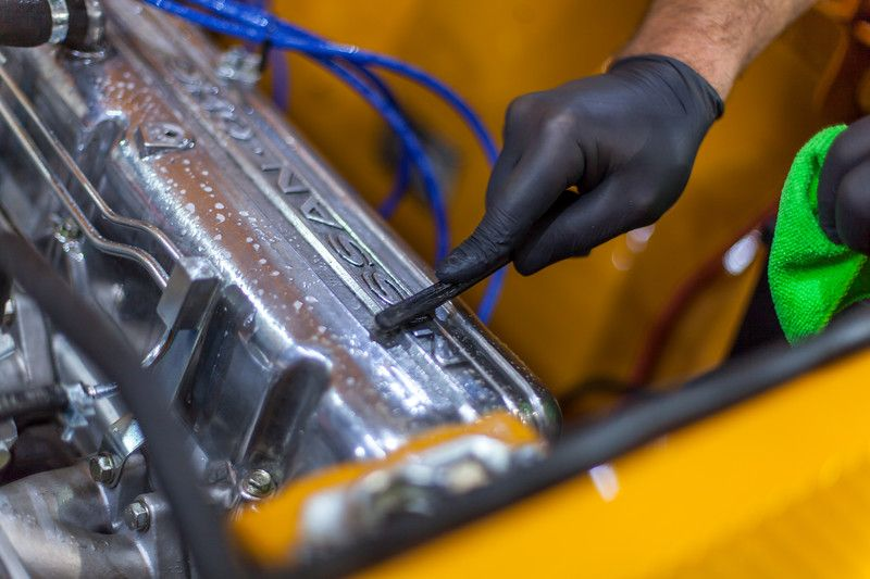Engine Restoration Bahama Yellow Datsun 240z