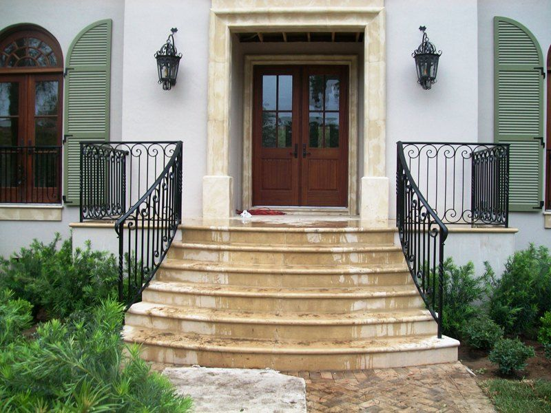 Front Porch With Wrought Iron Railings Google Search | Iron Railings For Steps