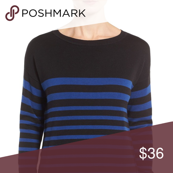 bf2c1dec0a5 Caslon   Black Zip Back High/Low Tunic Sweater S Description: Get a comfy