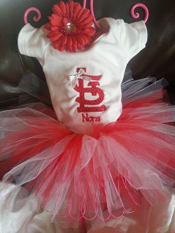 c1d522e01 Cardinals Logo Bodysuit T-shirt Tutu Embroidered Newborn to 5T ...