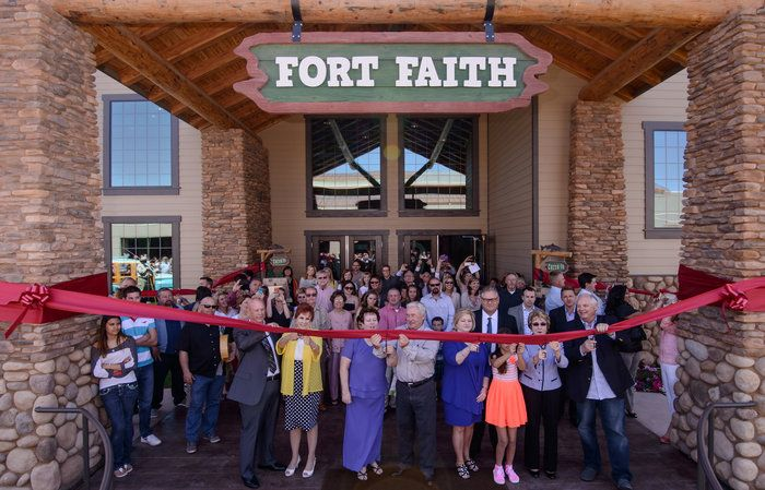 Ribbon Cutting at Fort Faith by Wayne Wong on Capture Kern County // Ribbon Cutting at Fort Faith... Front Row, Left to Right: Don and Kathleen Crabtree, Dennis and Palm Polm, Wendell and Lynda Vinson, Faith Hernandez, Jacquie Sullivan, Mike Maggard Left Side, Front to Back: Dean and Brenda Butler, Zach and Nicole Schorr, David and Ronda Richards Right Side, Front to Back: Monica Ornelas, man with tie?, Scott Cunningham