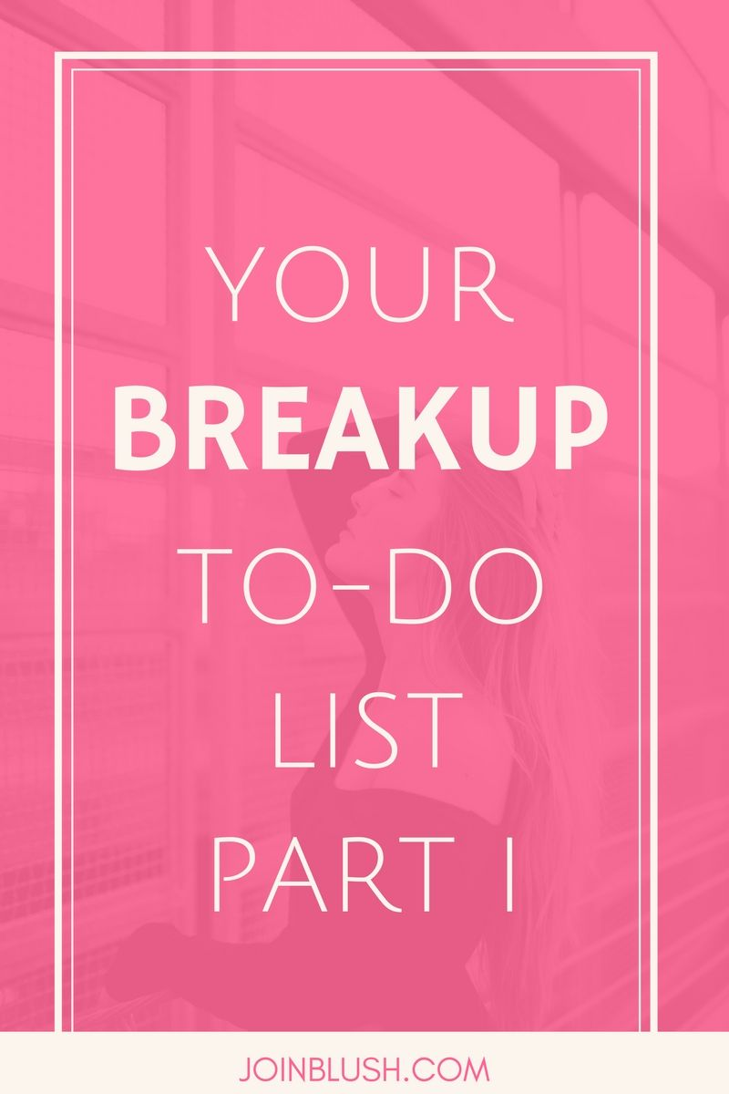 how to get over a break up advice