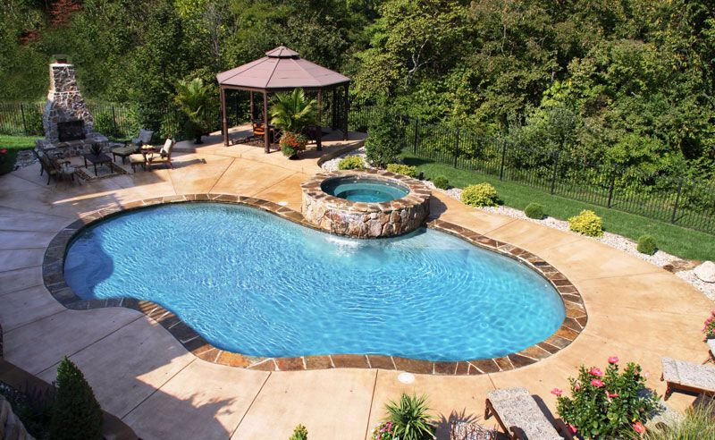 Gunite Pool … | Swimming Pools | Pinterest | Gunite pool, Backyard ...