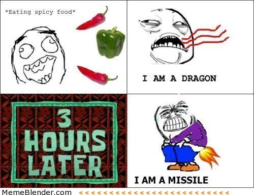 Eating Spicy Food Spicy Recipes Spicy Rage Comics