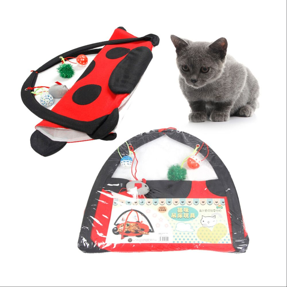 Cat tent bed amusement park playful kitty Beetle folding multifunction cats dog toy  sc 1 st  Pinterest & Cat tent bed amusement park playful kitty Beetle folding ...