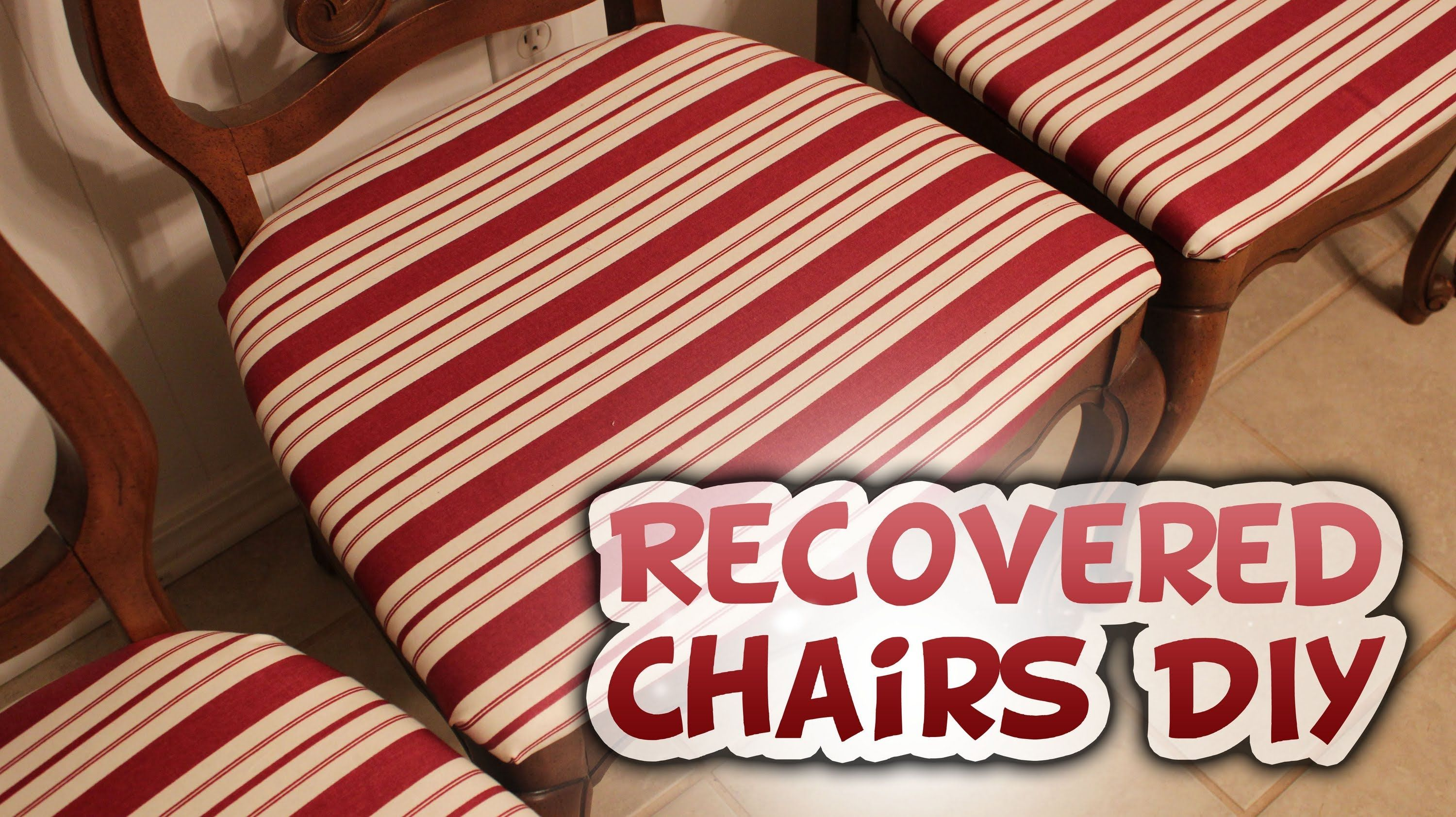 ReCovering Chairs DIY Tutorial - Whitney Sews   Diy chair ...