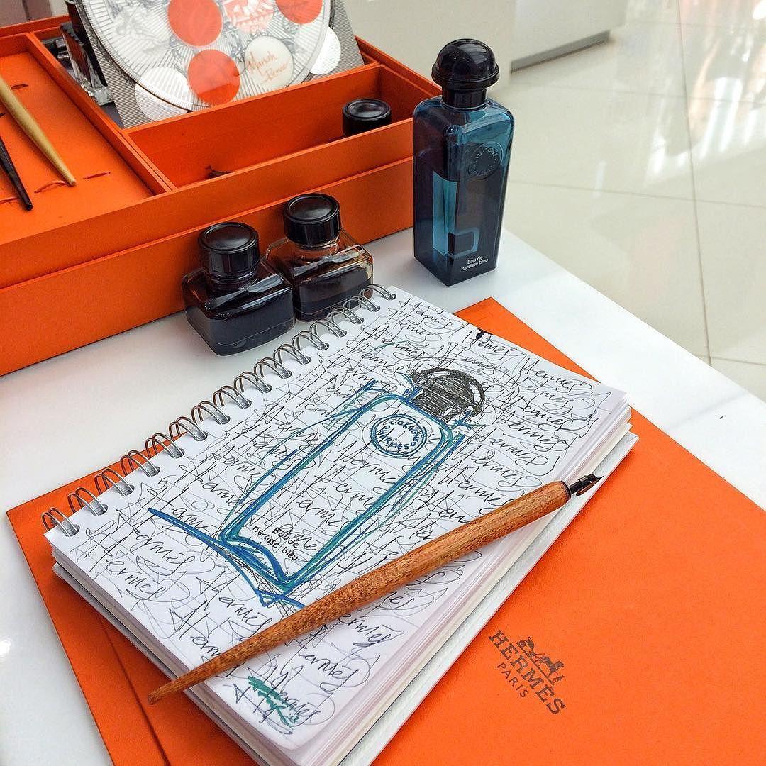 Eau De Narcisse Bleu B At Hermes Ink Pencil Ball Pen Metallic Pen