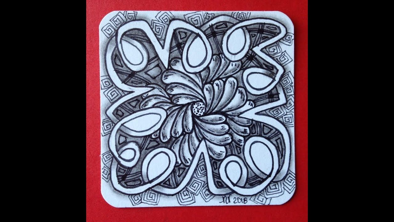 Easy Beginners Zentangle Art Zentangle Patterns Motifs Zentangle Patrones Zentangle Youtube