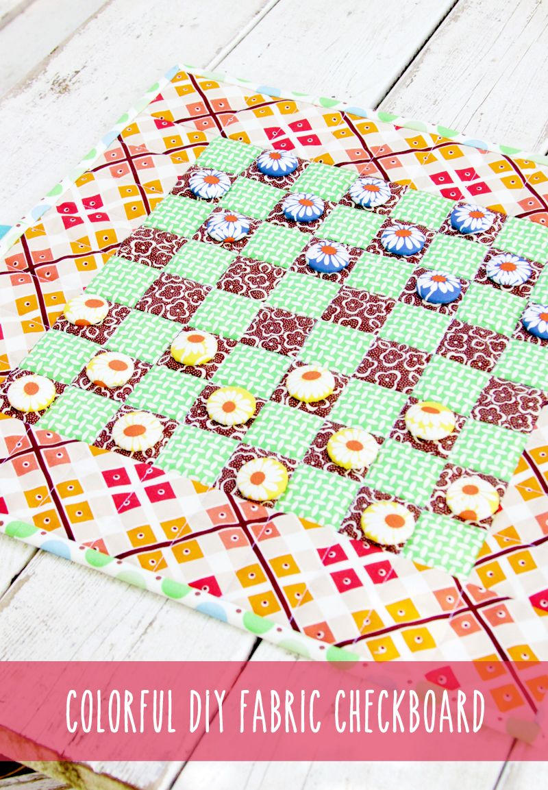 Colorful Diy Fabric Checkerboard Game Craft Ideas Pinterest