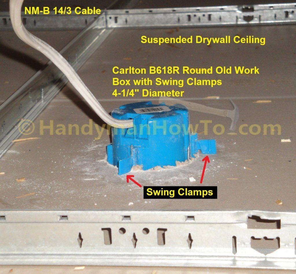Smoke Alarm B618r Old Work Ceiling Box Installation In 2020 Smoke Alarms Installation Hardwired