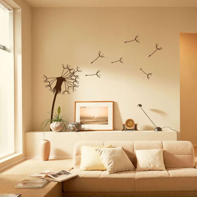 Dandelion Vinyl Wall Sticker Wall Stickers Home Decor Living Room Decals Diy Wall Decals #wall #decor #stickers #living #room