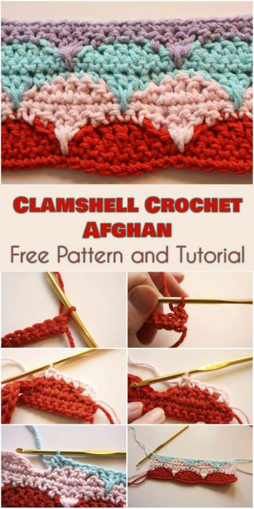Clamshell Afghan [Free Crochet Pattern and Tutorial] | Pinterest ...