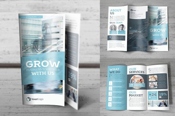 trifold brochure by fathurfateh on creative market brochure design