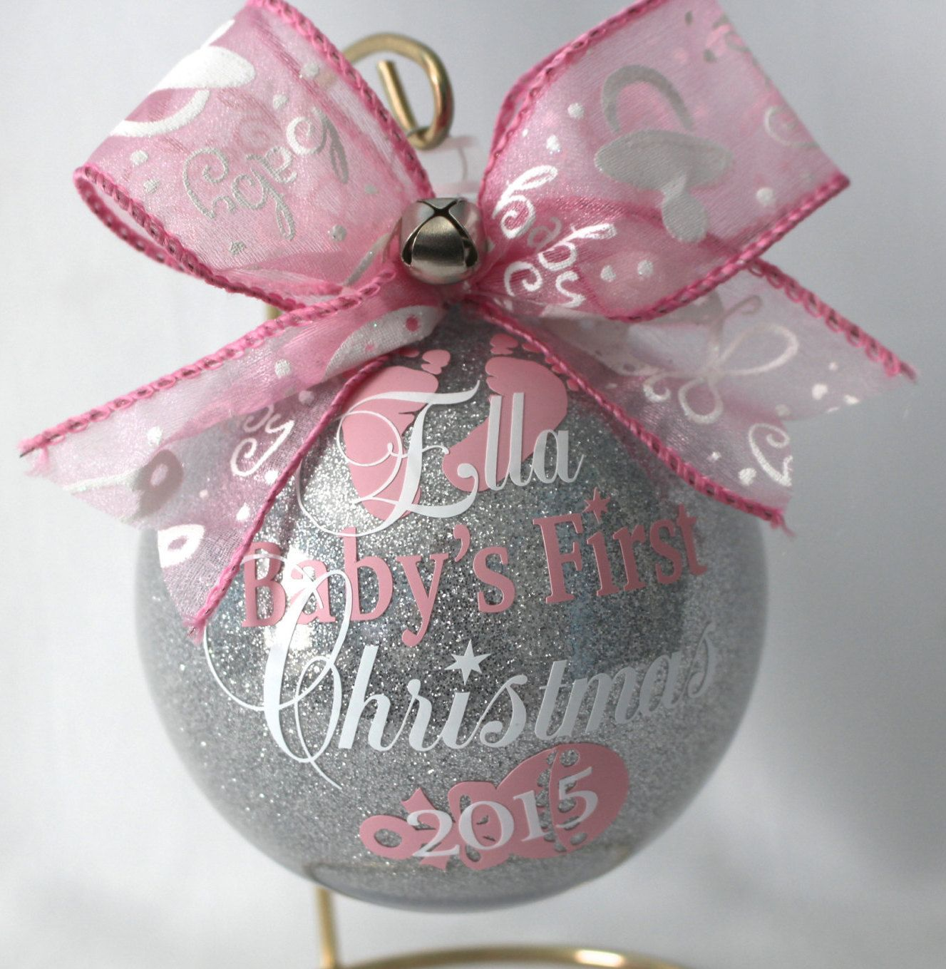Baby's First Christmas Ornament personalized New baby