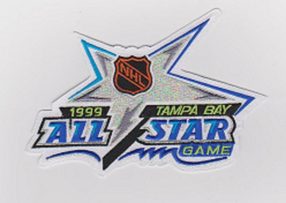 1999 NHL ALL STAR GAME JERSEY PATCH TAMPA BAY LIGHTNING JERSEY PATCH   TampaBayLightning 8269422a7
