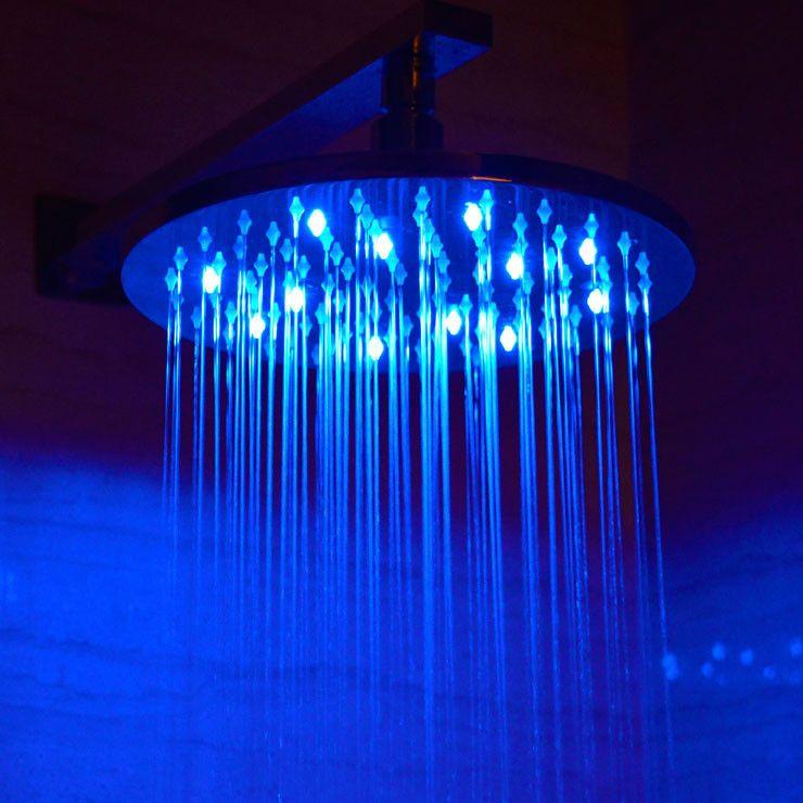 Alfi Brand 10 Led Rain Shower Head Round Rain Shower Head Rain Shower Shower Heads