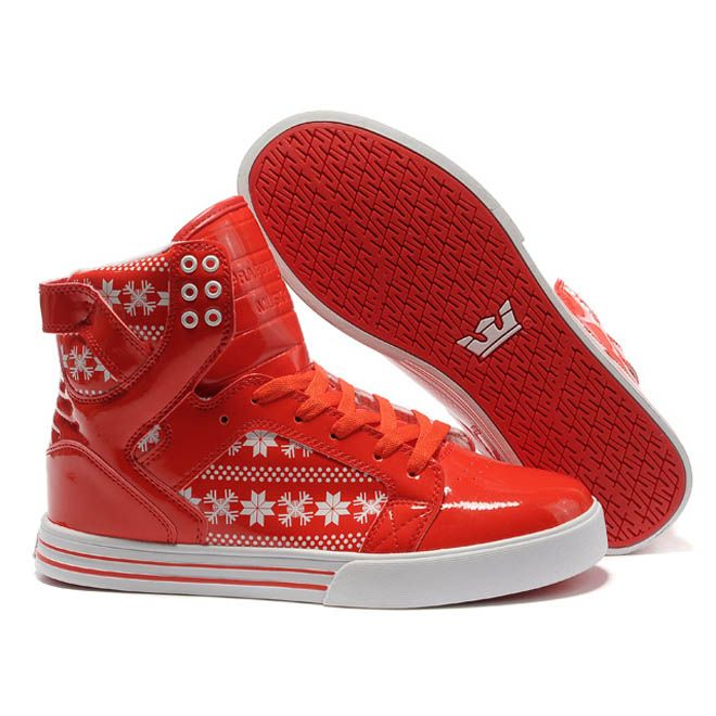 4c5d956826 Women Supra Footwear Skytop Red SnowFlake and Red High Tops | what i ...