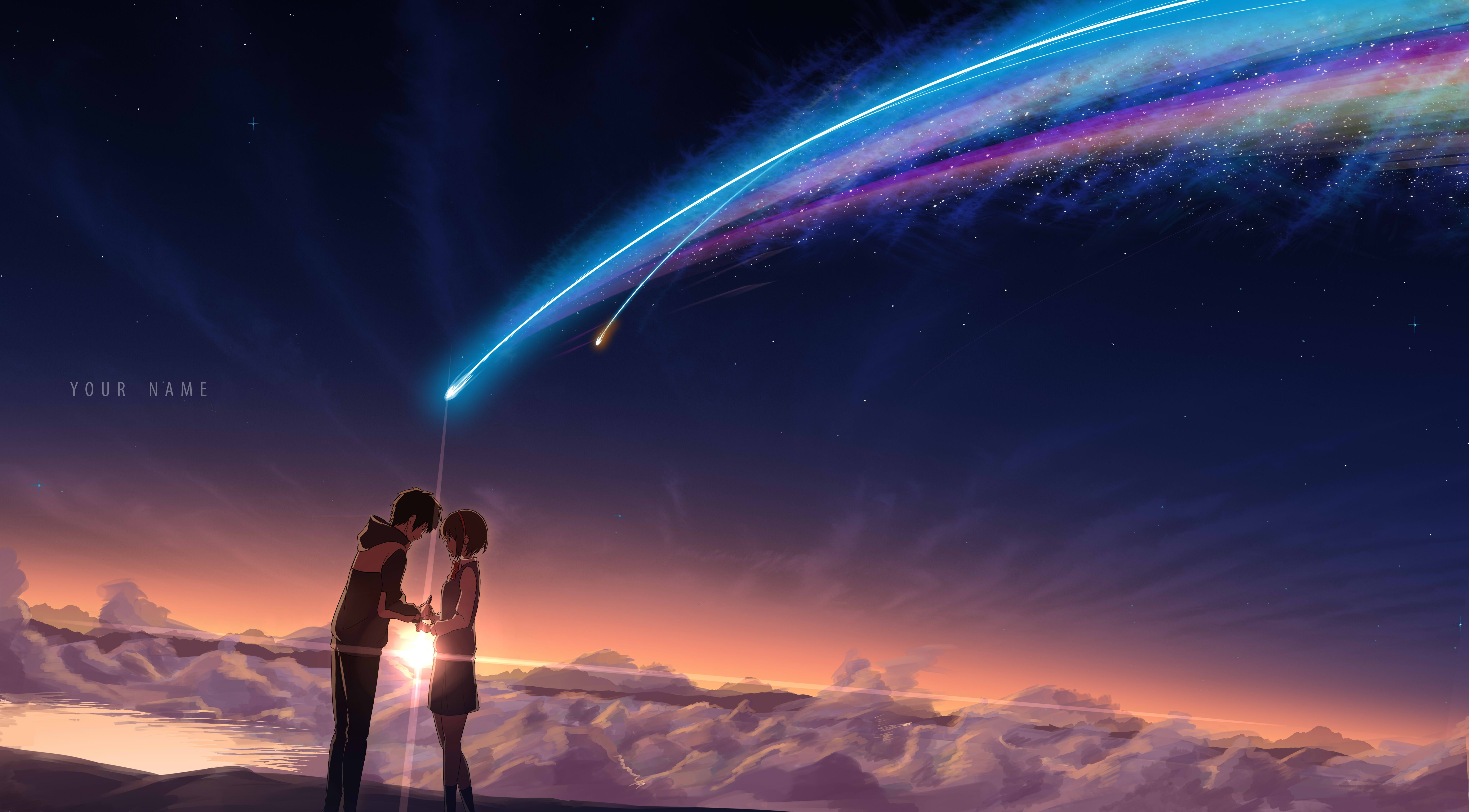 Pixiv Is An Illustration Community Service Where You Can Post And Enjoy Creative Work A Large Variety Of Work Is Uploaded And User Organized 新海 君の名は 背景 空イラスト