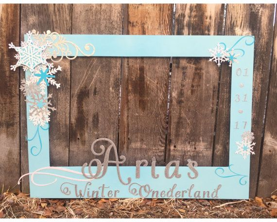 Giant Photo Prop Frame Winter Onederland By Winterlandstudios