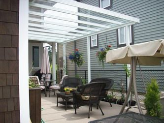 Glass For Deck Covering | EconoWise Sunrooms U0026 Patio Covers   Patio Covers